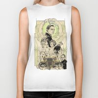the great gatsby Biker Tanks featuring the great nouveau gatsby by yo, sb!