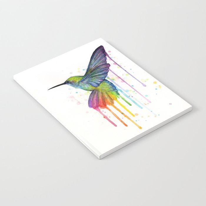 Hummingbird Rainbow Watercolor Notebook