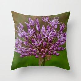 Passion for Allium Throw Pillow