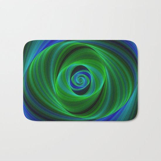 Green blue infinity Bath Mat