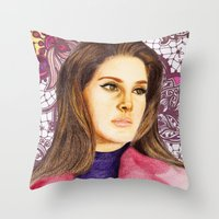 ultraviolence Throw Pillows featuring LANA II by Share_Shop