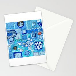 Blue Room with Blue Frames Stationery Cards