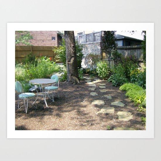 Out Into The Garden Art Print