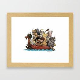Bring The Wild Rumpus Back! Framed Art Print