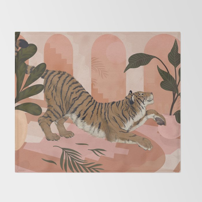 Easy Tiger Throw Blanket