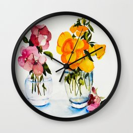 Tiny Vases Wall Clock