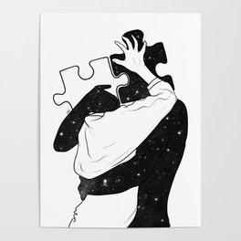 The puzzle love. Poster