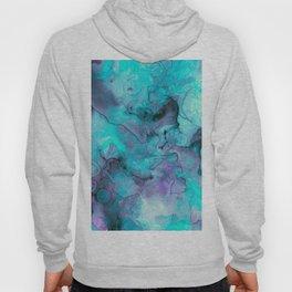 Abstract lilac teal aqua watercolor pattern Hoody