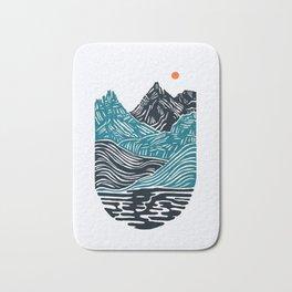 ABSTRACTED LANDSCAPE Bath Mat