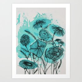 Oceanic Flowers Art Print