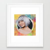 sia Framed Art Prints featuring Sia  by Will Costa