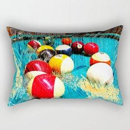 Modern billiards and pool art 3 Rectangular Pillow