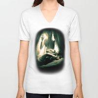 horror V-neck T-shirts featuring Horror by Joe Roberts