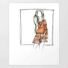 AUBURN. Art Print