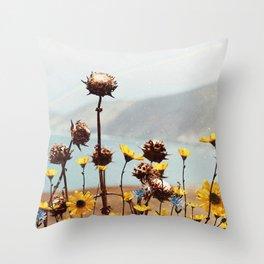 Yellow Dreamland Throw Pillow