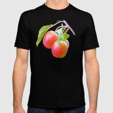Wild apples, watercolors Black MEDIUM Mens Fitted Tee