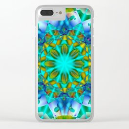 Abstract Flower ZZ SSS Clear iPhone Case