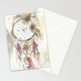 Dream catcher in earthy tones Stationery Cards