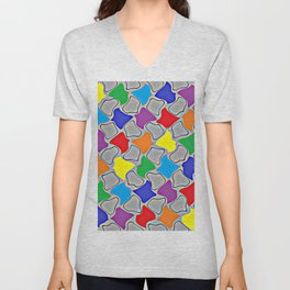 Glowing Dabs of a Rainbow Unisex V-Neck