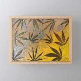 Cannabis leaves Framed Mini Art Print