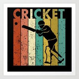Cricket Bowler Bat Cricketer Gift Art Print