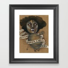 REGULAR BADGER Framed Art Print