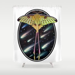 Comet moth Shower Curtain