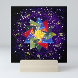 Astrological Circle Mini Art Print