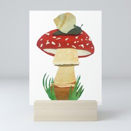 Mushroom & Snail Duo Mini Art Print