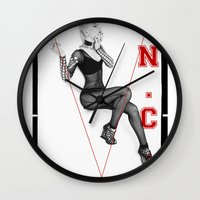 iggy azalea Wall Clocks featuring The New Classic - Iggy Azalea by infinitelydan
