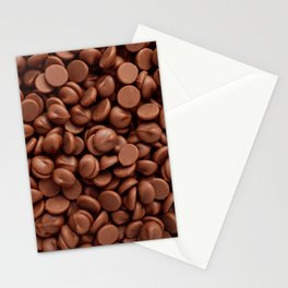 Milk chocolate chips Stationery Cards