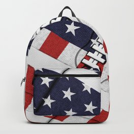 4th of July American Football Fanatic Backpack