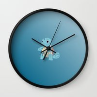 squirtle Wall Clocks featuring Squirtle by pokegirl93