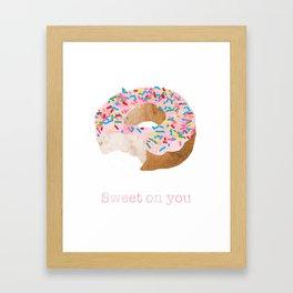 Sweet on You Donut Framed Art Print