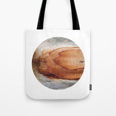 Planetary Bodies - Rust Wood Tote Bag