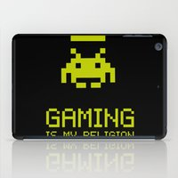gaming iPad Cases featuring Gaming is my religion by Lily's Factory