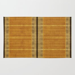 """Simple Oriental Curtains (Orange)"" Rug"