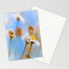 Daisies on Blue Stationery Cards