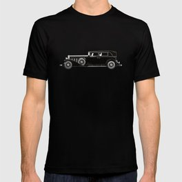 Retro car pattern T-shirt