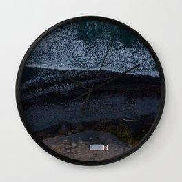 kaikoura vertical view camper coast line scenic Wall Clock