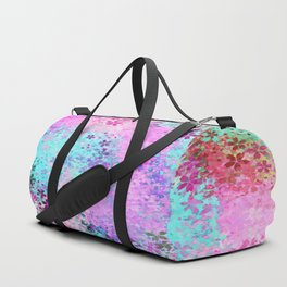 flower pattern abstract background in pink purple blue green Duffle Bag