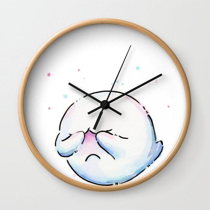 Shy Ghost Wall Clock