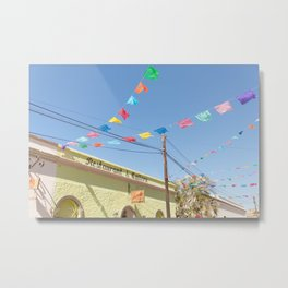 Party Flags in Mexico Metal Print