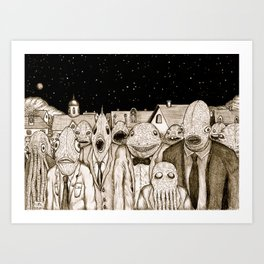 Innsmouth Meeting Art Print