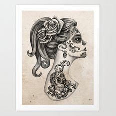 Day of the Dead Girl Art Print