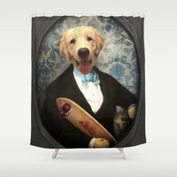 dragonball z Shower Curtains featuring Z-Dogs by The Lonely Pixel