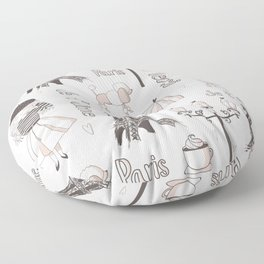 Paris Girl Floor Pillow