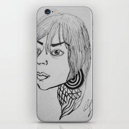 Outside Girl iPhone Skin
