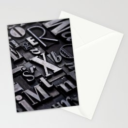 Random Letterpress Letters Stationery Cards