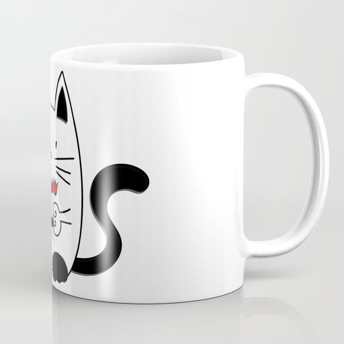 Cat with beautiful roses Coffee Mug